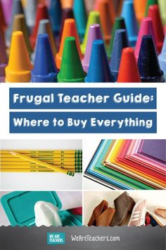 Where to buy everything for the best deal on school supplies, classroom supplies, teacher clothes, and other teacher essentials. Middle School Teachers, New Teachers, Elementary Teacher, Elementary Education, Teacher Supplies, Classroom Supplies, Classroom Hacks, Classroom Tools, Classroom Decor