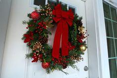 "How To Make a ""Gourmet"" Homemade Christmas Wreath & Simple Advent Wreath"