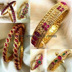 Jewellery Designs: Pota Rubies Colorful Bangles