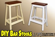 Have you ever wanted to make a bar stool? Maybe for your home or shop. This is an extremely easy DIY bar stool that anyone can make. You can probably batch out a set of 4 of these in a few hours.