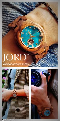 The JORD Cora series in Zebrawood and Turquoise, the wood allows it to be casual, the shimmering face elevates it to classic. Wear a watch that fits your full spectrum of style. Wear a JORD.
