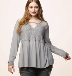 34487969d21e4 Shop feminine lace tops that keep your babydoll status in check like our plus  size Lace