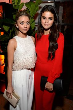 Variety and Women In Film Emmy Nominee Celebration: Sarah Hyland and Selena Gomez in Valentino