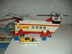 Vintage Lego 1989 - Lego Legoland Town City 6482 Rescue Helicopter Complete with Manual 2 Minifigs Tested Working by NostalgicDreamsCND on Etsy