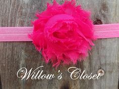 Neon Pink Flower on FOE by WillowFayesCloset on Etsy, $4.00