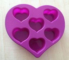 6Hearts In Heart Flexible Silicone Mold For by happymoulds on Etsy, $4.99