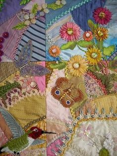 Butterfly and Hummingbird applique - quilt details