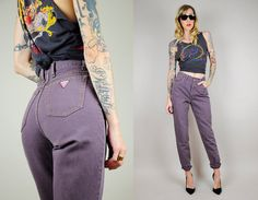 DRV Collection for Noir Ohio / vintage 80s plum high waisted Guess skinny jeans
