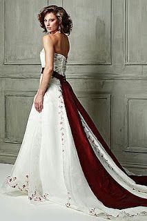 Resultado de imagen de Vestidos de novia color rojo arabes