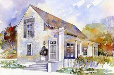 New plan by architect Bill Ingram...Spacious, yet small: Rosebud, plan #1862