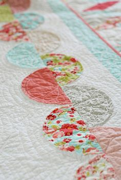 "In a Jiffy- Ric Rac Quilt by Thimble Blossoms in ""Ruby"" by Bonnie and Camille.  LOVE!"
