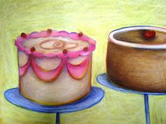 Artful Artsy Amy: Lesson Plan: Thiebaud Pop Art Cakes and Teaching for Artistic Behavior - shape lesson? Bring in desserts