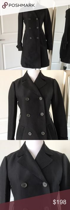 BCBG black trench coat! Silk! XS $398 BCBG Black silk trench coat! Silk cotton blend Lightweight for spring Excellent condition  Black Lapel collar 6 front button closure XS Trench coat style Unlined  Classic style can be worn with anything Belt is missing, but you can use any belt or have the belt loops removed BCBGMaxAzria Jackets & Coats Trench Coats