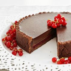 Chocolate & Red Currant Tart  http://recipelistings.com/chocolate-red-currant-tart/