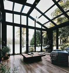 Dope or nope? The Relaxing Shed in the Woods is designed and visualized by Konstantinos Anninos from - Architecture and Home Decor - Bedroom - Bathroom - Kitchen And Living Room Interior Design Decorating Ideas - Interior Exterior, Exterior Design, Interior Architecture, Room Interior, Greece Architecture, Orangerie Extension, Design Living Room, Living Rooms, Enclosed Patio