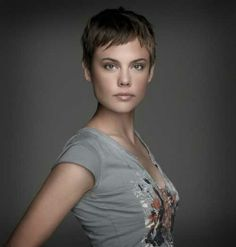 super short pixie -- like everything but the ears cut out