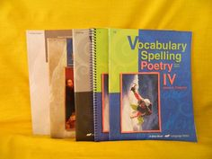 ABeka Spelling Vocabulary IV Student & Key w. World Literature Homeschool School #TextbookBundleKit