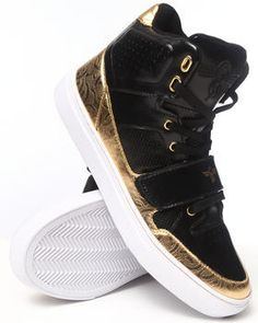 Buy Cota Black Gold Hightop Sneaker Men's Footwear from Creative Recreation. Find Creative Recreation fashions & more at DrJays.com