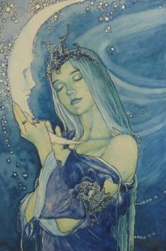 la lune - your secrets exposed The Maiden (part of the Ironteeth witches' Three-Faced Goddess) Art Inspo, Kunst Inspo, Art And Illustration, Fantasy Kunst, Moon Art, Moon Moon, Moon Child, Stars And Moon, Oeuvre D'art