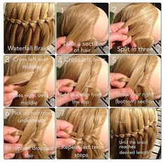 How to: waterfall braid hairstyle