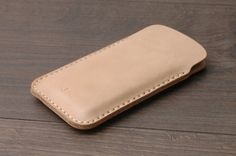 Minimal Leather Iphone 6 Case Sleeve Iphone 6 Plus by khadesign