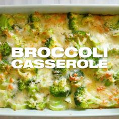 Easy Broccoli Casserole Recipe to serve as a holiday side dish or as a vegetarian meal. This is yours if you are looking for a healthier and quick recipe. Brocoli Casserole Recipes, Easy Broccoli Casserole, Chicken Casserole, Broccoli Gratin, Easy Casserole Dishes, Thanksgiving Side Dishes, Thanksgiving Recipes, Italian Thanksgiving, Kids Thanksgiving