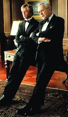 Movie Meet Joe Black - Brad Pitt holding his own with Sir Anthony Hopkins.These 2 actors work well together. Love Movie, I Movie, Movie Stars, Old Movies, Great Movies, Sir Anthony Hopkins, Anthony Hopkins Movies, Image Film, Movies And Series
