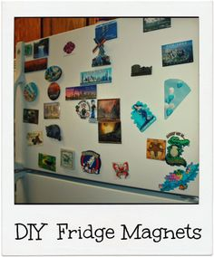 DIY personalized fridge magnets.Makes a very good gift idea and kid friendly. #upcycle #gift #magnets