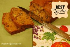Imparting Grace: The very best pumpkin bread