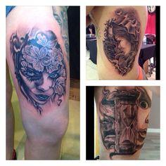 1ºprimer premio blanco y negro sabado,1ºblanco y negro del domingo y 3º  mejor del show en expo tattoo estepona