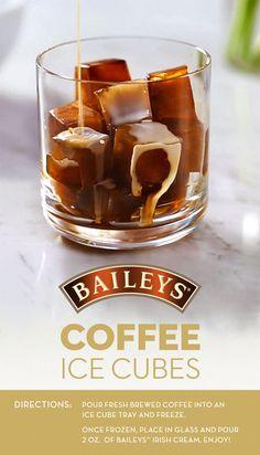 Baileys Coffee Ice Cubes Vanilla Vodka Recipe Video Tutorial