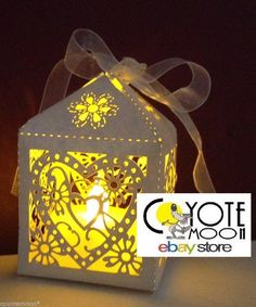 dont buy yellow lights!! WEDDING LED TEALIGHT CANDLE HOLDER, 12 LANTERNS, PARTY HEART WITH RIBBONS