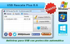 Software antivirus para USB, Gratis y portable.