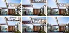 Casa tem estrutura pré-fabricada e pérgolas deslizantes como cobertura - UOL Estilo de vida