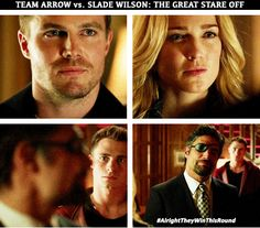 #Arrow #2.15 #Season2 Staring contest with Slade