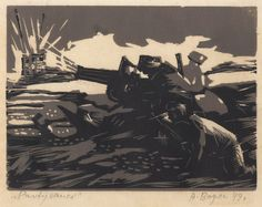 "From the series: ""Partisans"", 1949, Alexander Bogen,  Lino-cut, Gift of the artist"