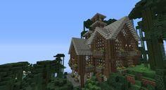 Minecraft Mountain House | Thread: Minecraft Jungle Mountain House
