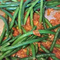 Steamed Green Beans with Roasted Tomatoes - Allrecipes.com
