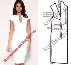 robe droite à courtes manches cintrée à la taille avec un bijoux dans l'encolure permettant un décolleté en V de la largeur du bijoux DORE, la jupe en coupe jupe-crayon . La robe est de couleur BLANC PUR
