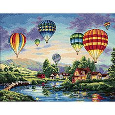 @Overstock - Celebrate you love for hot air balloons with this cross stitch kit Craft kit features colorful balloons in the sky with a beautiful sunset background Kit has everything you need to get startedhttp://www.overstock.com/Crafts-Sewing/Gold-Collection-Balloon-Glow-Cross-Stitch-Kit/3665260/product.html?CID=214117 $27.27