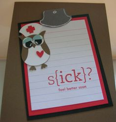 Love this get well card.  Owl punch