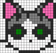 Regular Cat Perler Bead Pattern / Bead Sprite