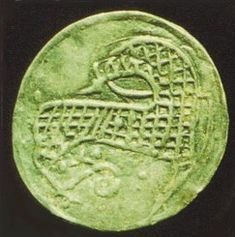 Horse depicted on coin  9th Century CE. Hedeby, Denmark
