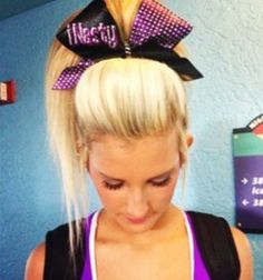 Cami Branson-s big cheer hair If you are looking for hairstyles that Cheer Hair, Cheer Bows, Big Hair, Your Hair, Wavy Hair, Hair Bow, Blonde Hair, Weave Hairstyles, Cute Hairstyles