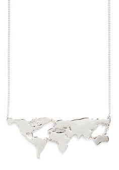 There's a Map for That Necklace in Silver | Mod Retro Vintage Necklaces | ModCloth.com