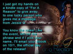 Hoping to win a copy of For A Reason? Check out the release day event page, and help me thank the people who have been vital to the final product.   Join the event, give them a like, and look for this banner on the their pages to enter.