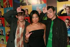 "Jenna, Kevin and Chris at the Advance Screening of ""Wheels""...way back."