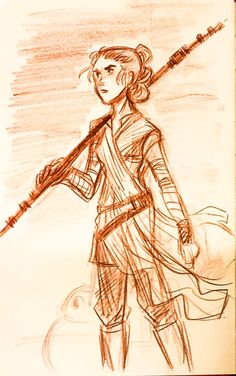 Because Star Wars: Rey from sketchinfun