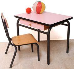 pamphile le pupitre d colier vintage 2 places r nov bureau enfant r tro home pinterest. Black Bedroom Furniture Sets. Home Design Ideas