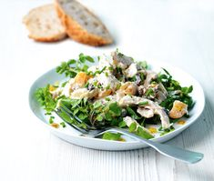 This coronation chicken is a simple and delicious no-cook dish. Greek yogurt adds a fresh tang to this British classic. Search triple tested recipes from the Good Housekeeping Cookery Team. Uk Recipes, Salad Recipes, Cooking Recipes, Cuban Recipes, Recipies, Coronation Chicken Recipe, Perfect Roast Chicken, Good Housekeeping, How To Cook Chicken